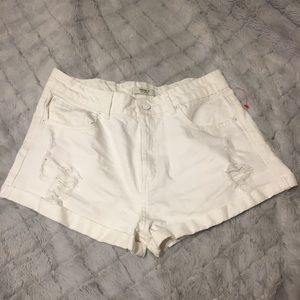 BNWT Forever 21 Distressed Cuffed Short Shorts